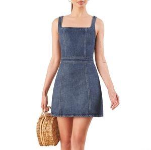 Reformation Parker denim dress size 6 NWOT